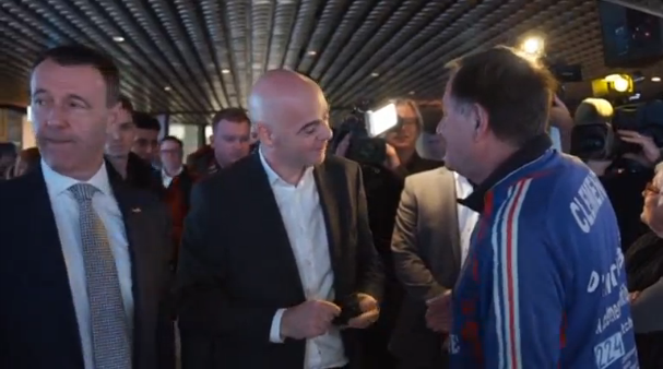 Opening of FIFA World Football Museum is the first official duty of Gianni Infantino after his election in Zurich on Friday. (Photo courtesy of Reuters video)
