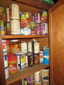 Non-perishable food in cabinet (Photo courtesy of https://en.wikipedia.org/wiki/Emergency_management)