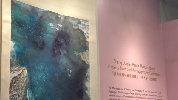 A painting by Chinese master Zhang Daqian sells for nearly $35 million, underscoring strong demand for quality Chinese art despite a market slowdown.(photo grabbed from Reuters video)