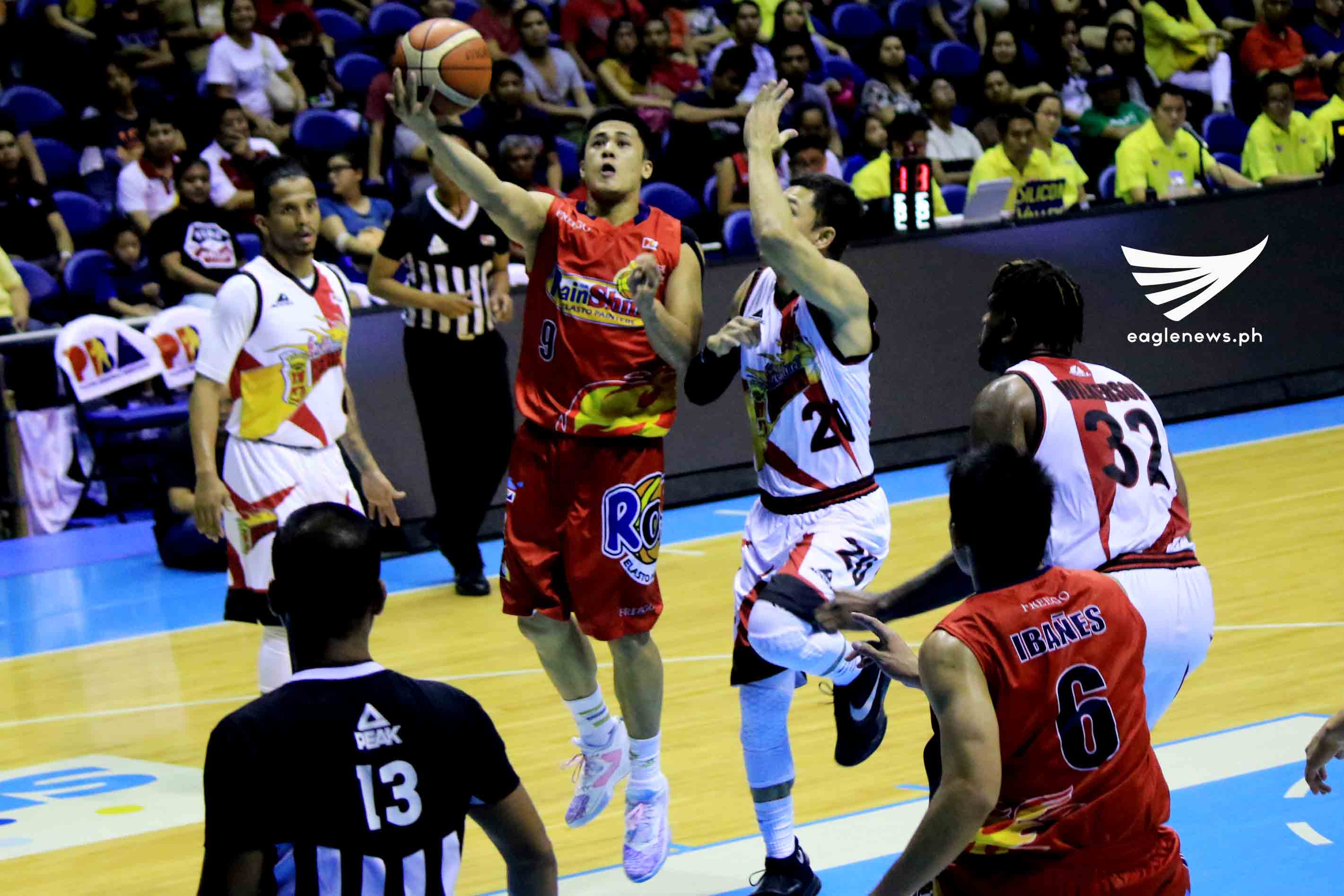 San Miguel falters as Rain or Shine is a win away from the PBA Commissioner's Cup Finals
