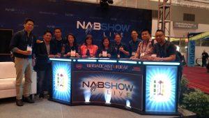 The EBC team, including members of the EBC Las Vegas Bureau, at the NAB Show in Las Vegas, Nevada, USA. (Eagle News Service)