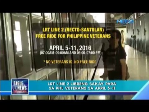 LRT offers free rides to Philippine veterans