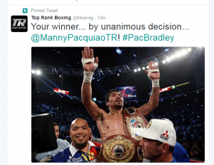 Courtesy Top Rank boxing twitter page