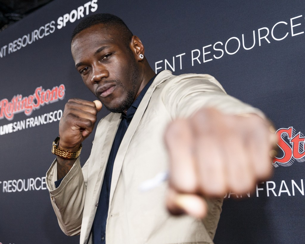 SAN FRANCISCO, CA - FEBRUARY 07: Pro boxer Deontay Wilder attends Rolling Stone Live SF with Talent Resources on February 6, 2016 in San Francisco, California.   Rich Polk/Getty Images for Rolling Stone/AFP
