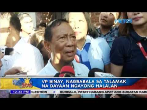 ICYMI: VP Binay warns against widespread electoral fraud