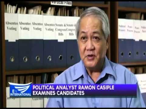 Political analyst Ramon Casiple examines candidates