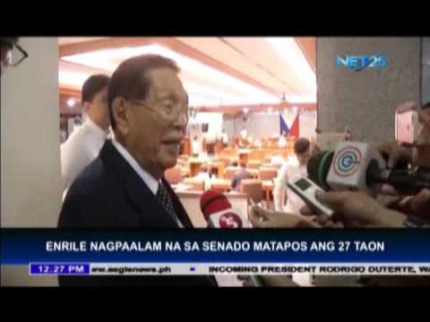 Senator Enrile retires from public service