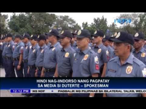 "Spokesman: ""Duterte does not intend endorse media killings"""