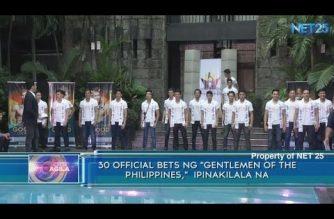 "30 official  bets ng  ""Gentlemen of the Philippines,""  ipinakilala na"