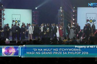 """""""Di Na Muli"""" ng Itchyworms, wagi ng grand prize sa PhilPop 2016"""