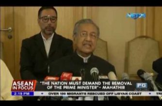 """The nation must demand the removal of the Prime Minister""- Mahathir"