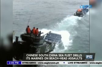 Chinese South China Sea fleet drills its marines on beach-head assaults