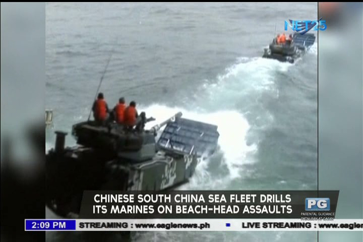 Chinese South China Sea fleet drills its marines on beach-head assaults