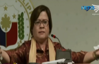 Senator Leila De Lima became emotional and hysterical as she faced the senate media in a press conference. De Lima is claiming that the reported riot at the New Bilibid Prison on Wednesday morning was a tactic of the administration to persuade prisoners to testify against her.