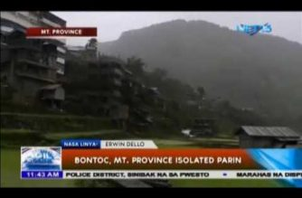 Bontoc, Mt. Province isolated pa rin