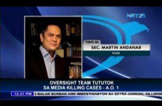 Oversight team established to focus on media killings