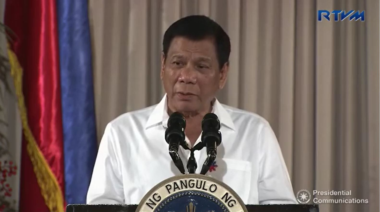 (File photo)   President Duterte will be leaving today, November 17, for Lima, Peru for the APEC Leaders' Summit where he is expected to meeti with Russian President Vladimir Putin. (Photo grabbed from RTVM video)