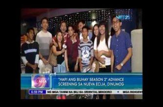 """""""Hapi ang Buhay Season 2"""" advance screening sa Nueva Ecija, dinumog"""