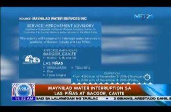Maynilad water interruption sa Las Piñas at Bacoor, Cavitec