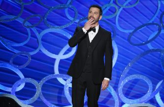 FILE PHOTO: LOS ANGELES, CA - SEPTEMBER 18: Host Jimmy Kimmel speaks onstage during the 68th Annual Primetime Emmy Awards at Microsoft Theater on September 18, 2016 in Los Angeles, California.   Kevin Winter/Getty Images/AFP