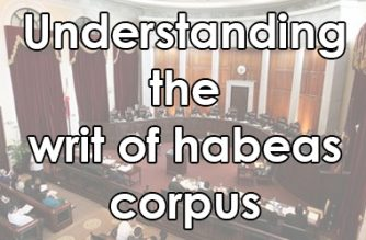 Understanding the writ of habeas corpus