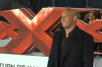 """Vin Diesel and the new cast members of """"xXx"""" sequel, """"xXx: Return of Xander Cage"""", attend the film's European premiere.(photo grabbed from Reuters video)"""