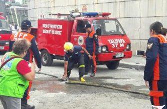 Fire drill at seminar isinagawa ng mga kawani at volunteers sa T.Sora, Quezon City