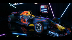 First glimpse of RB13, the car thought most likely to challenge Mercedes dominance this season(photo grabbed from Reuters video)