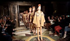 Shades of beige contrasted with dark plum, deep red and brown details dominated the garments of Filipino fashion designer Happy Andrada who showed off her collection at the London Fashion Week last February. (Photo courtesy Love Ann Sison, EBC London Bureau, Eagle News Service)