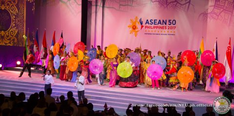 A performance at the opening ceremony of the 30th ASEAN Summit held at the PICC in Manila. (Photo courtesy Jaimar Orosa/New Era University)