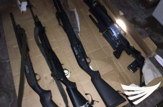 High-powered firearms found inside the house occupied by Angel Manalo and his group until he was arrested on March 2.