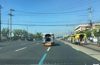 FILE PHOTO: There were almost no vehicles plying Commonwealth Ave. on Thursday morning. Meanne Corvera, Eagle News Service