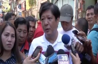 "File photo of former Senator Ferdinand ""Bongbong"" Marcos Jr.  The Supreme Court, sitting as the Presidential Electoral Tribunal, said it would continue to tackle the Marcos poll protest case, even as it dismissed the first of three causes of action of the Marcos camp.  (Eagle News Service)"