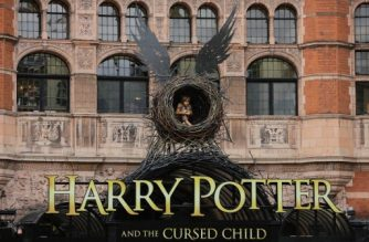 The entrance to the Palace Theatre is seen ahead of the premiere of the Harry Potter and the Cursed Child stage play in London on July 30, 2016.  / AFP PHOTO / Daniel Leal-Olivas
