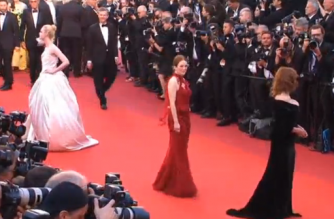Hollywood and French film royalty walk the Cannes red carpet
