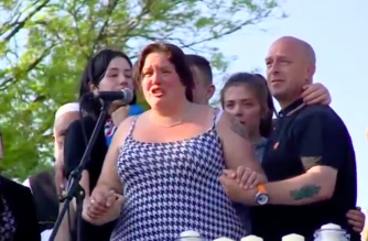The mother of a Manchester bombing victim asked for unity at a vigil in their hometown of Bury on Wednesday (May 24). Photo grabbed from Reuters video file.