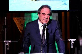 FILE PHOTO: LOS ANGELES, CA - FEBRUARY 22: Filmmaker Oliver Stone speaks onstage during the 14th Annual Global Green Pre Oscar Party at TAO Hollywood on February 22, 2017 in Los Angeles, California.   Frazer Harrison/Getty Images for Global Green/AFP