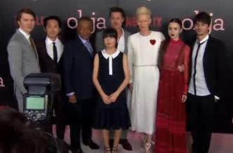 "Brad Pitt attends the New York premiere of ""Okja"""