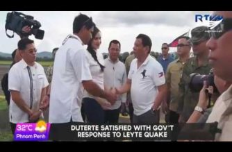 President Duterte visits quake-hit Ormoc; assures residents of gov't help