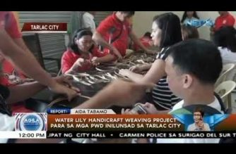 Water lily weaving project, inilunsad sa Tarlac City