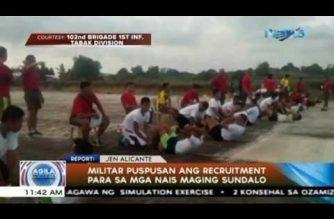 Militar, puspusan ang recruitment para sa mga nais maging sundalo