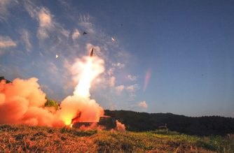 This handout photo taken on September 4, 2017 and provided by South Korean Defence Ministry in Seoul shows South Korea's missile system firing Hyunmu-2 missile into the East Sea from an undisclosed location on South Korea's east coast during a live-fire exercise simulating an attack on North Korea's nuclear site. South Korea launched a ballistic missile exercise on September 4 in response to Pyongyang's provocative detonation of what it claimed was a miniaturised hydrogen bomb. / AFP PHOTO /