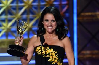 "(FILES) This file photo taken on September 17, 2017 shows Julia Louis-Dreyfus accepting the award for Outstanding Lead Actress in a Comedy Series for 'Veep' onstage during the 69th Emmy Awards at the Microsoft Theatre in Los Angeles, California. Award-winning ""Veep"" star Julia Louis-Dreyfus has breast cancer, she announced through social media on September 28, 2017. The 56-year-old American actress revealed the diagnosis to her 750,000 Twitter followers, posting a note that read: ""One in eight women get breast cancer. Today, I'm the one."" ""The good news is that I have the most glorious group of supportive and caring friends, and fantastic insurance through my union,"" she continued.""The bad news is that not all women are so lucky, so let's fight all cancers and make universal health care a reality."" / AFP PHOTO / Frederic J. Brown"