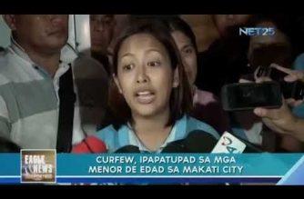 Curfew, ipapatupad sa mga menor de edad sa Makati City