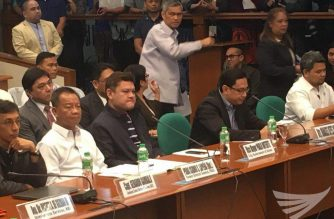Paolo Duterte and mans Carpio attend the Sept. 7, 2017 blue ribbon committee hearing into corruption in the Bureau of Customs. Meanne Corvera, Eagle News Service