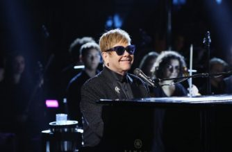 ROME, ITALY - SEPTEMBER 08: Elton John performs at the Andrea Bocelli show as part of the 2017 Celebrity Fight Night in Italy Benefiting The Andrea Bocelli Foundation and the Muhammad Ali Parkinson Center on September 8, 2017 in Rome, Italy.   Jonathan Leibson/Getty Images for Celebrity Fight Night/AFP