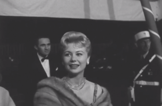 French actress Danielle Darrieux attending Cannes Film Festival in 1958 and 1961 (Photo grabbed from Reuters video)