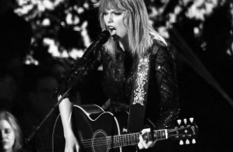 HOUSTON, TX - FEBRUARY 04: (EDITORS NOTE: Image has been shot in black and white. Color version not available.) Musician Taylor Swift performs onstage during the 2017 DIRECTV NOW Super Saturday Night Concert at Club Nomadic on February 4, 2017 in Houston, Texas.   Mike Coppola/Getty Images for DIRECTV/AFP