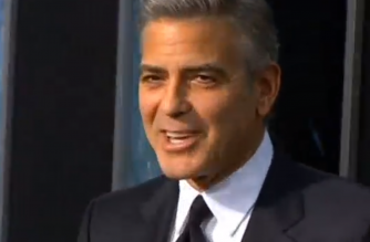 George Clooney (Photo grab from Reuters video)