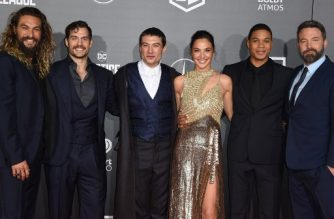 "(FILES) This file photo taken on November 13, 2017 shows  (L-R): Cast members Jason Momoa, Henry Cavill, Ezra Miller, Gal Gadot, Ray Fisher and Ben Affleck attend the world premiere of Warner Bros. Pictures' ""Justice League,"" November 13, 2017 at the Dolby Theater in Hollywood, California.  It might have scored top of the box office, but ""Justice League"" didn't have the super opening weekend predicted, falling short of expectations with takings of $96 million, according to industry estimates released on November 19, 2017. With an all-star cast including Gal Gadot as Wonder Woman, Ben Affleck as Batman and Henry Cavill as Superman, ""Justice League"" -- based on the DC Comics superheroes team -- sees a mash-up of classic characters fend off the threat of supervillain Steppenwolf (Ciaran Hinds).   / AFP PHOTO / Robyn Beck"